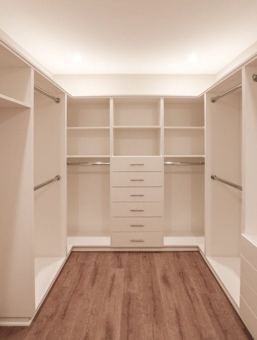 Bed One closet